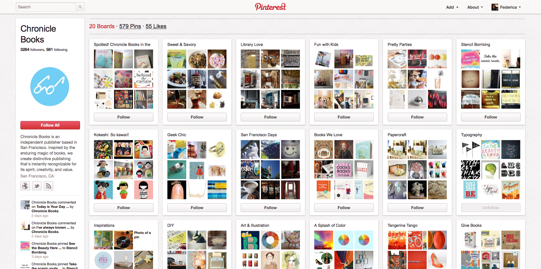 Chronicle Books su Pinterest http://pinterest.com/chroniclebooks/