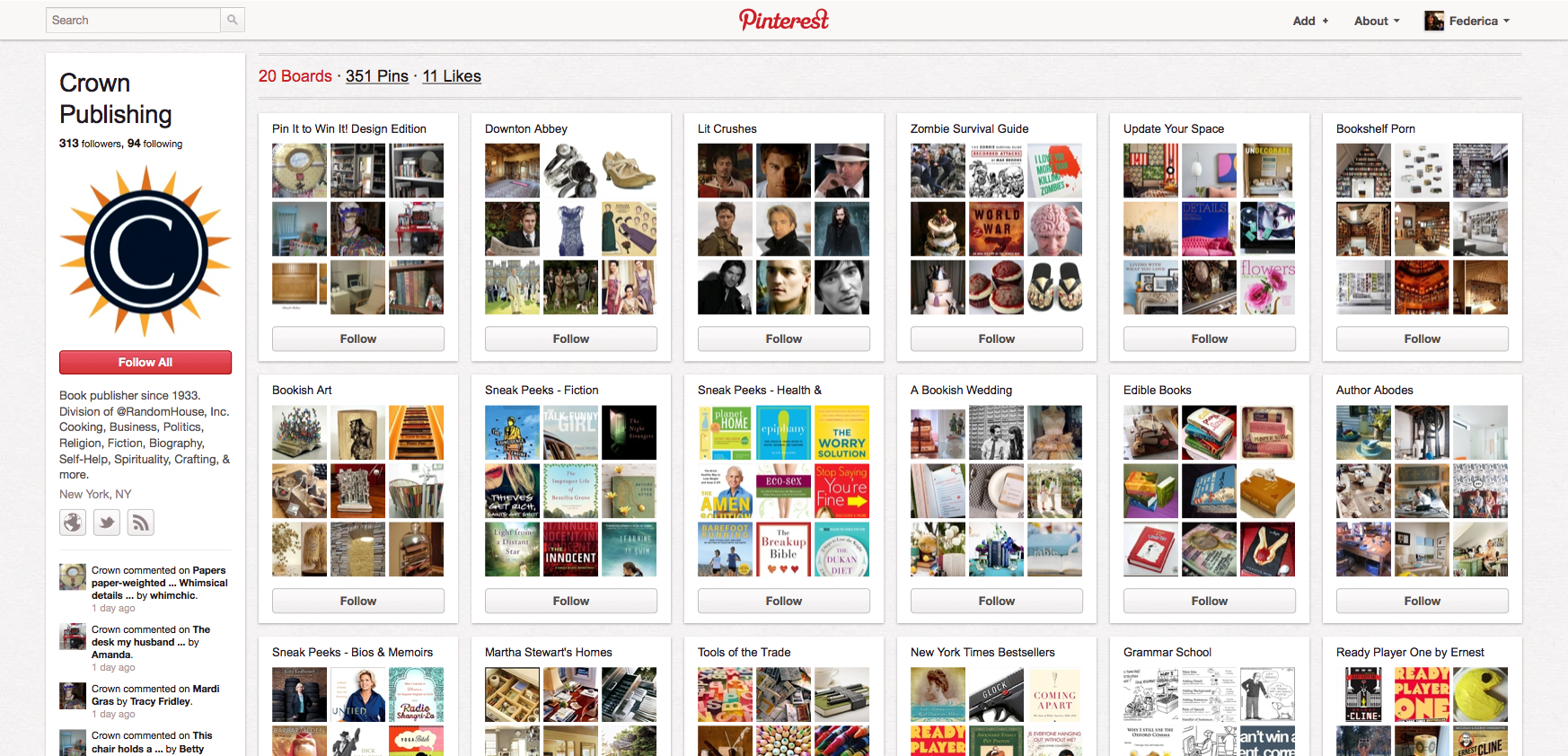 Crown Publishing su Pinterest.